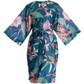 APELT Coloured Nights Kimono petrol / pink / grün 120x105 cm