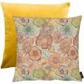 APELT Easy Living Kissen Vorderseite: multi/orange/natur - Rückseite: Uni gelb 45x45 cm