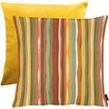 APELT Easy Living Kissen Vorderseite: multi/orange - Rückseite: Uni gelb 65x65 cm