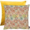 APELT Easy Living Kissenhülle Vorderseite: multi/orange/natur - Rückseite: Uni gelb 66x66 cm