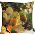 APELT Herbstzeit Kissen grün 45x45, Eichel