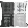 APELT Loft Style Kissen all-over Grafikmusterung schwarz / weiß 48x48 cm
