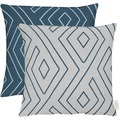 APELT Loft Style Kissen blau/hellgrau 45x45