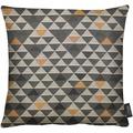 APELT Loft Style Kissen braun 39x39, Dreiecksmuster