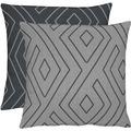 APELT Loft Style Kissen grau/schwarz 45x45