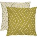 APELT Loft Style Kissen grün/natur 45x45