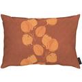 APELT Loft Style Kissen kunstvoll ausgearbeitete Blätter terracotta