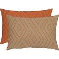 APELT Loft Style Kissen orange/taupe 40x60