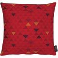APELT Loft Style Kissen rot 39x39, Dreiecksmuster