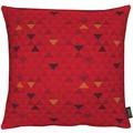 APELT Loft Style Kissen rot 48x48, Dreiecksmuster