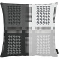 APELT Loft Style Kissenhülle all-over Grafikmusterung schwarz / weiß 49x49 cm