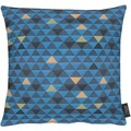 APELT Loft Style Kissenhülle blau 49x49, Dreiecksmuster