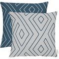 APELT Loft Style Kissenhülle blau/hellgrau 46x46