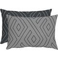 APELT Loft Style Kissenhülle grau/schwarz 41x61
