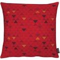 APELT Loft Style Kissenhülle rot 40x40, Dreiecksmuster