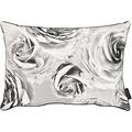 APELT Loft Style Kissenhülle schwarz/weiß, Rosenmuster 41x61 cm