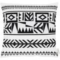 APELT Loft Style Kissenhülle schwarz/weiß 46x46, Formen