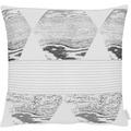 APELT Loft Style Kissenhülle weiß / anthrazit 49x49 cm