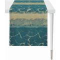 APELT Loft Style Läufer modern aufgefasste Flächen und Sturkturen blau / natur 44x140 cm