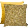 APELT Loft Style Wendekissenhülle Chaneloptik gold / gelb 46x46 cm