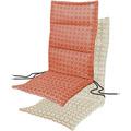 APELT Outdoor Sitzauflage koralle/stein 50x120 cm, Kreismuster