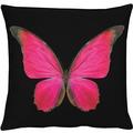APELT Papillon Unique Kissenhülle schwarz- rot 46 cm x 46 cm