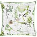 APELT Summer Garden Kissen weiß/grün 39x39 cm