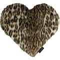 APELT UNIQUE Herzkissen Leopardenoptik braun 35x40 cm