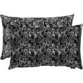 APELT Unique Kissenhülle schwarz/grau 46x61 cm