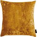 APELT UNIQUE Kissenhülle Uni mit Pannesaumtstruktur gelb 46x46 cm