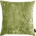APELT UNIQUE Kissenhülle Uni mit Pannesaumtstruktur grün 46x46 cm