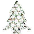 APELT Winterwelt Baumkissen Christmas-all-over weiß / grün 37x50 cm