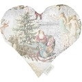 APELT Winterwelt Herzkissen creme/pastell/bunt 30x32