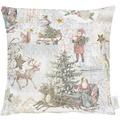 APELT Winterwelt Kissen creme/pastell/bunt 39x39