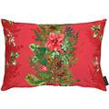 APELT Winterwelt Kissen Weihnachtsgirlandenmotiv rot / grün 35x50 cm