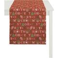 APELT Winterwelt Läufer rot/grün 44x140