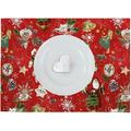 APELT Winterwelt Platzset Christmas-all-over weiß / multi 35x48 cm