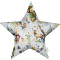 APELT Winterwelt Sternkissen Christmas-all-over rot / multi 44x44 cm