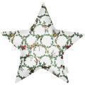 APELT Winterwelt Sternkissen Christmas-all-over weiß / grün 44x44 cm