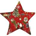 APELT Winterwelt Sternkissen Christmas-all-over weiß / multi 44x44 cm