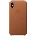 Apple iPhone XS Leather Case saddle brown