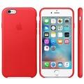 Apple Leather Case für iPhone 6s, red