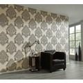 Architects Paper barocke Mustertapete Luxury Classics Vliestapete beige grau metallic 343724 10,05 m x 0,53 m