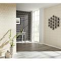 Architects Paper beflockte Vliestapete Castello Tapete creme schwarz 335826 10,05 m x 0,52 m