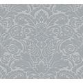 Architects Paper beflockte Vliestapete Castello Tapete grau metallic 335833 10,05 m x 0,52 m