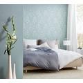 Architects Paper klassische Mustertapete Metallic Silk Textiltapete blau grün 306605