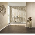 Architects Paper klassische Mustertapete mit Echtflock Luxury wallpaper Vliestapete creme metallic 10,05 m x 0,52 m