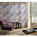 Architects Paper Mustertapete im Ethno-Look Luxury Classics Vliestapete blau creme lila 10,05 m x 0,53 m