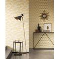 Architects Paper Mustertapete Tessuto 2, Textiltapete, gelb, metallic, weiß