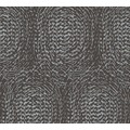 Architects Paper Vliestapete Alpha Tapete mit grafischen Kreisen metallic schwarz 333734 10,05 m x 0,53 m